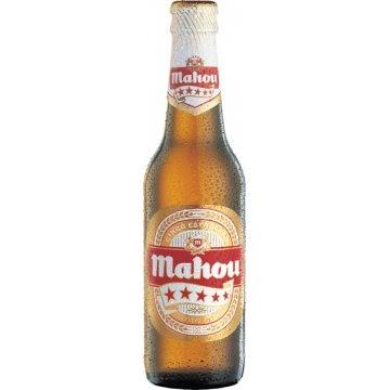 botella de cerveza Mahou 5 estrellas