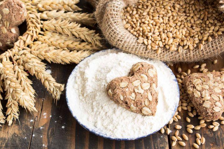 trigo y productos de trigo en formato collage