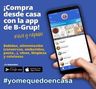 Anuncio de la publicación de la app oficial App distribuidores alimentos  BGrup 1