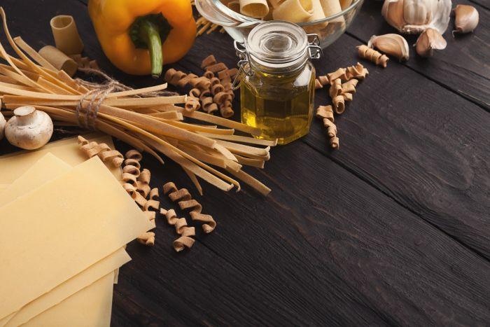 Ingredientes para preparar canelones