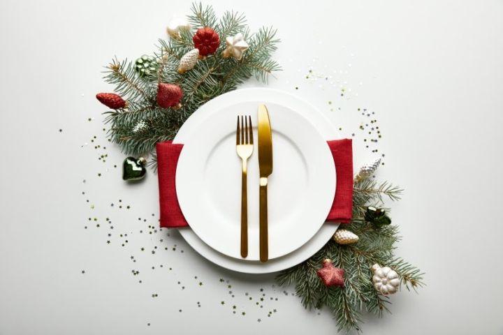 Presentación plato menú de Navidad para restaurantes B Grup
