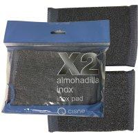 Estropajo Inox 10x12,5 Pack-2 Cisne - 19040