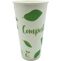 Vaso Papel Bebida Fría Compost 591ml Tecnop B50 - 19229