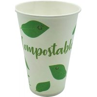 Vaso Papel Bebida Fría Compost 360ml Tecnop B50 - 19230