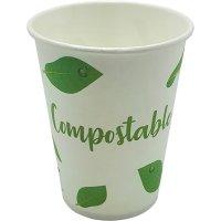 Vaso Papel Bebida Fría Compost 240ml Tecnop B50 - 19231
