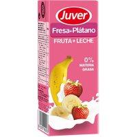 Juver Fruita+llet Maduixa/plàtan 200ml P-6 - 2006