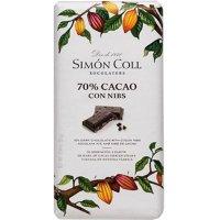 Chocolate 70% Cacao Con Nibs Simon Coll 85gr - 35164