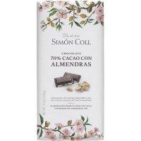 Chocolate 70% Con Almendras Simon Coll 100gr - 35165