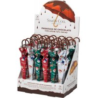 Sombrilla Chocolate Navidad S.coll Display 24u - 35237