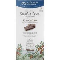 Chocolate 75% Cacao S/azucar Simon Coll 85gr - 36576