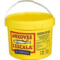 Anchoas De L'escala Sal Cubo 100 Piezas 3,5kg - 41521