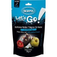 Aceitunas Serpis Lets Go Mix Verdes Negras 70gr - 42894