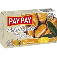 Mejillones Pay-pay Escabeche 8-12 120gr - 5157
