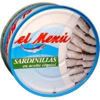 Sardinilla Ac.veg 550gr 40/50 El Menu Litogr - 6233