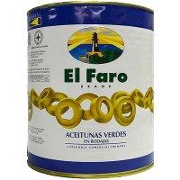 Aceitunas Verdes Rodajas Faro 3100ml - 6263