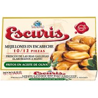 Mejillones Escab Fritos Escuris 10/12 Ol-120 - 6345