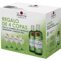 Gin Tanqueray 70cl + 4 Copas Promocaja - 81836
