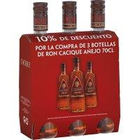 Ron Cacique Oro 70cl Pack 3bot Promocaja 10%dto - 83616