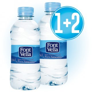 1 Caixa Font Vella 33cl (35u) + 2 De Regal