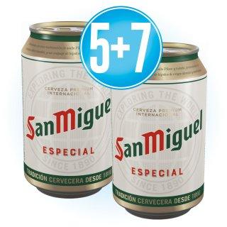 5 Cajas San Miguel Lata 33cl (24 u) + 7 de Regalo