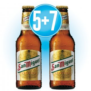 5 Cajas San Miguel 1/4 pack-6 (24 u) + 7 de Regalo