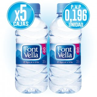 5 CAIXES FONT VELLA 33CL (35 U) A PREU ESPECIAL