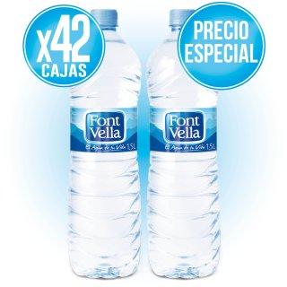 42 CAJAS FONT VELLA 1,5 LT (6 U) A PRECIO ESPECIAL