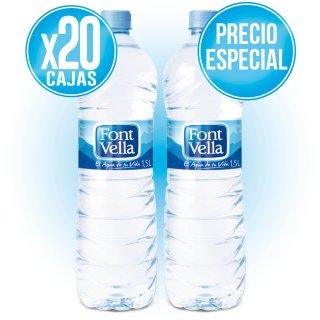 20 CAIXES FONT VELLA 1,5 LT (6 U) A PREU ESPECIAL