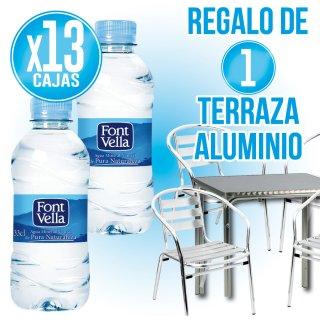 13 Cajas Font Vella 33cl Pet + Regalo de 4 sillas + 1 mesa aluminio