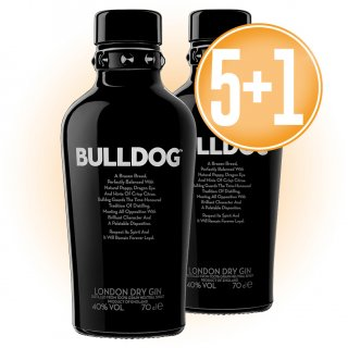 5 Botellas Gin Bulldog 70cl + 1 De Regalo