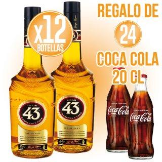 12 Bot Licor 43 1lt + Regalo de 24 Coca Cola 20cl Sr