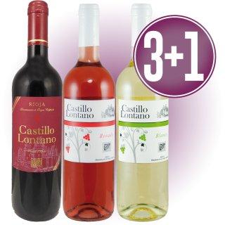 3 Cajas Castillo Lontano Blanco, Rosado O Tinto (12 U) + 1 De Regalo
