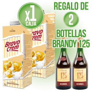 1 Caja Nata Bravo Crem Cocinar Brik 1lt (12u) + Regalo De 2 Bot Brandy 125 1lt