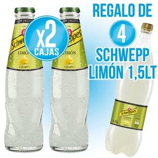 2 Cajas Schweppes Limón 20cl Ret (24 U) Regalo De 4 Cajas Schweppes Limon 1,5lt (6 U)