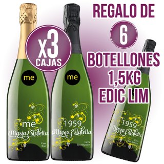 3 Caixes Cava Masia Estalella Brut O 1959 Brut Nature Regal De 6 Botellons Cava M.E. 1,5lt