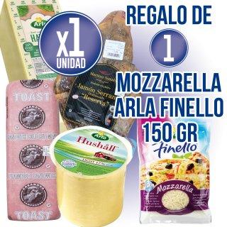 1 Pieza Selección Productos Frio (Queso y Embutido) + Regalo de 1 Mozarella Ratllada Arla 150gr