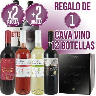 7 Cajas Vino rioja + 1 Jumilla + Regalo de 1 Cava 12 botellas