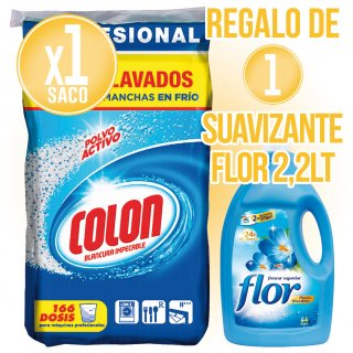 MODULO 1 COLON SACO+ 1 SUAVIZANTE FLOR 44 LAVADOS
