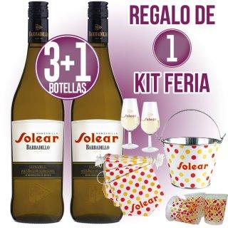 3 Cajas Barbadillo Solera + Regalo de 1 Kit de Feria