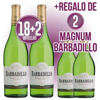 18 bot Barbadillo Castillo San Diego + 3 Bot de Regalo + 2 Magnums de Regalo