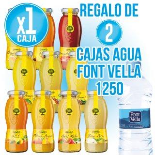 1 Caja Zumo Rauch A Elegir (24u) + Regalo De 2 Cajas Font Vella 1250 (15u)