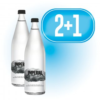 2 Caixes Agua Imperial 1/2 retornable (20u) + 1 de regal