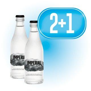 2 Cajas Agua Imperial 1/4 retornable (24u) + 1 de Regalo