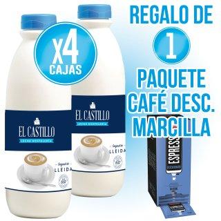4 Cajas Castillo 1,5lt Hosteleria (6u) + Regalo de 100 sobres Cafe Marcilla Descafeinado