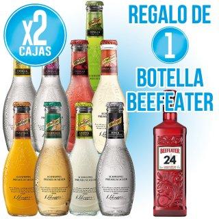 2 Cajas Schweppes Tonica Premium 20cl + Regalo de 1 bot Gin Beefeater