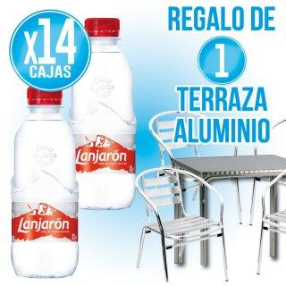 14 cajas Lanjaron 33cl pet+ Regalo de 4 sillas + 1 mesa aluminio