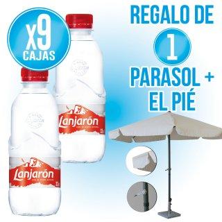 9 Caixes Lanjaron 33cl pet + REGAL DE parasol 3mt + peu