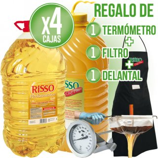 15LT ACEITE RISSO PERFORMANCE O CHEF PLUS + REGALO DE TERMÓMETRO + DELANTAL + FILTRO
