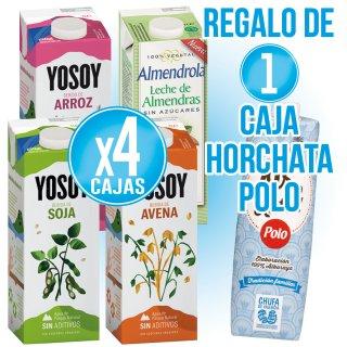 4 Cajas Yosoy 1lt (6 U) Regalo De 1 Caja Horchata Polo 1lt (12 U)