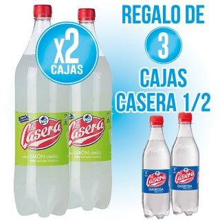 2 caixes Casera 500 Llimona (12 u) + REGAL DE 3 caixes Casera 500 sr (12 u)